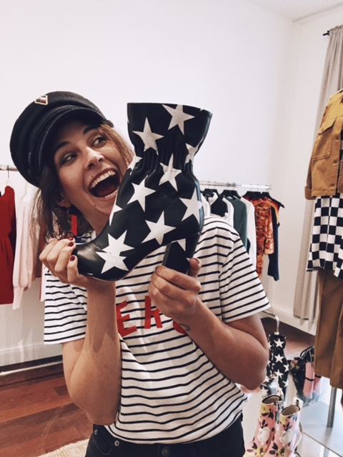 Me going crazy in the Zalando Showroom.